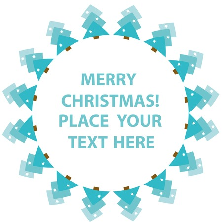 Frame with abstract snowy christmas tree. You can put in your text. Vector