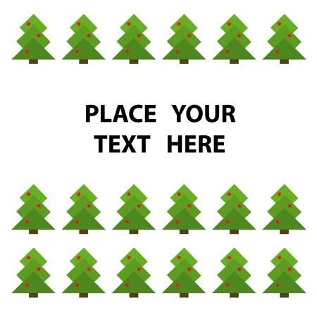 Frame with abstract green christmas tree. You can put in your text. Stock Vector - 3768404
