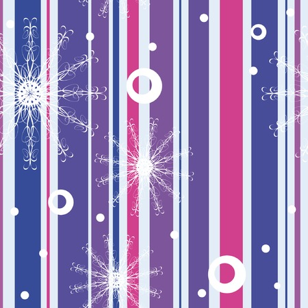 Seamless pattern with snowflakes 6 Vector