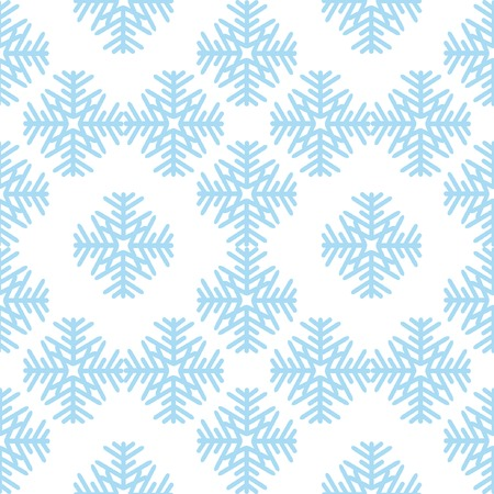 Seamless pattern with blue snowflakes Stock Vector - 3768418