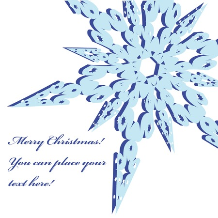 Christmas frame with snowflake. Vector illustration. You can put in your text. Stock Vector - 3768412
