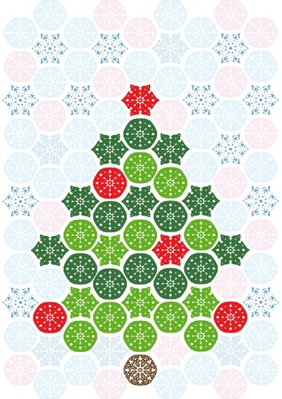 Background with abstract mosaic christmas tree Stock Vector - 3895502