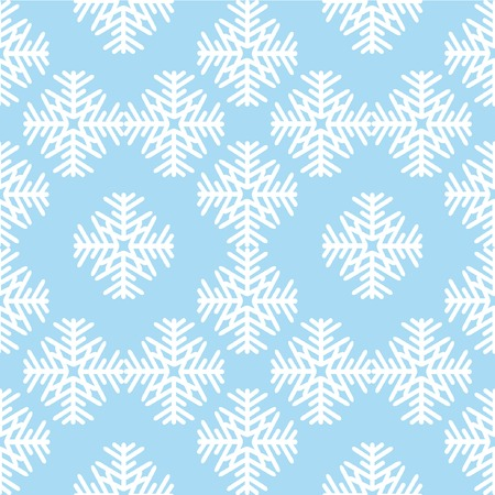 Seamless pattern with white snowflakes Vector