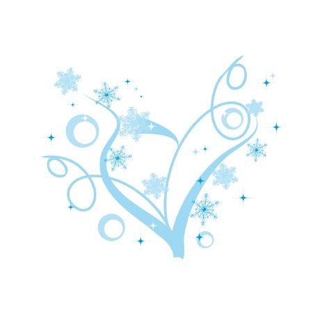 Abstract heart with snowflakes for st. valentine day Vector