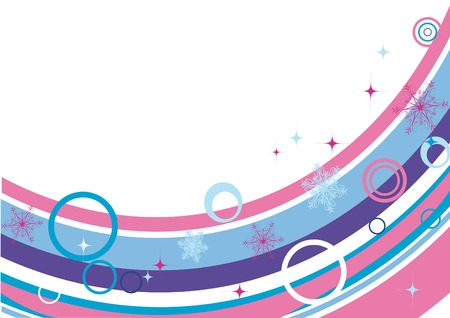 Winter blank with snowflakes 2. You can put in your text.  Vector
