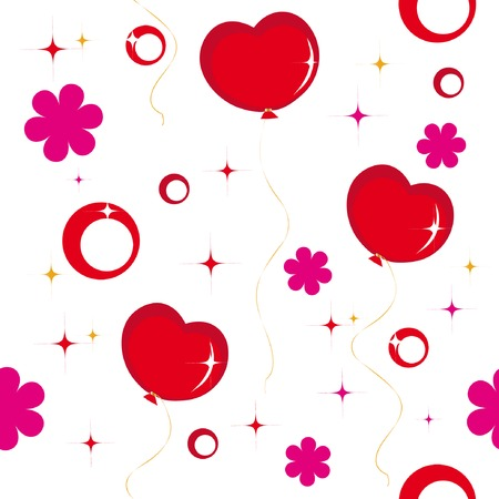 Seamless pattern with hearts for saint valentine day Vector
