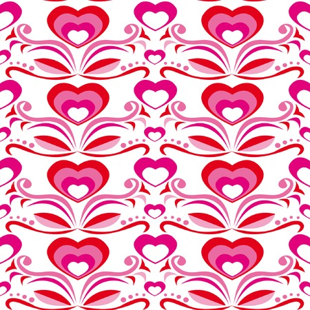 Seamless pattern with hearts for St. Valentine day Vector