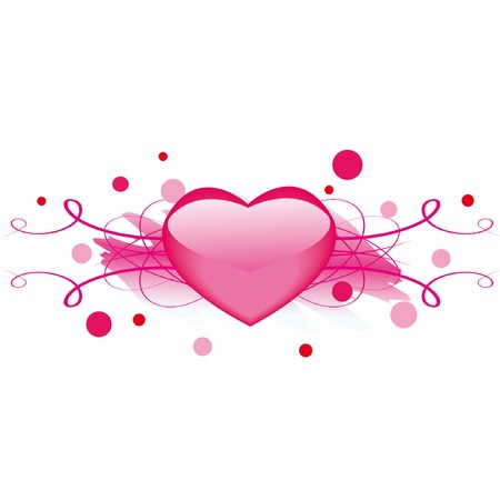 Grunge valentine element with heart for your design Stock Vector - 4131677