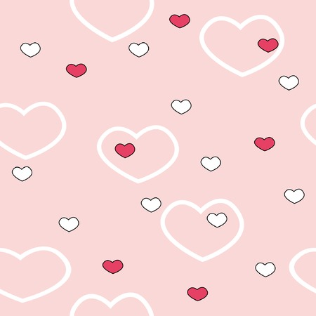 Seamless background with color hearts for St. Valentine day Stock Vector - 4131686