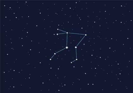 afterglow: illustration of constellation Illustration