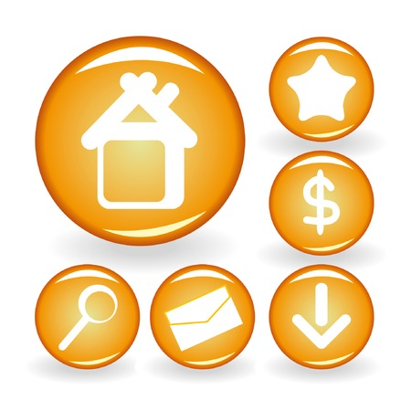 Set of web icons for your design 1. Vector illustration. Stock Vector - 4174619
