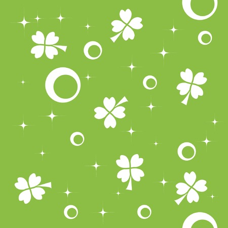 Seamless pattern with quatrefoils for St. Patricks Day Vector