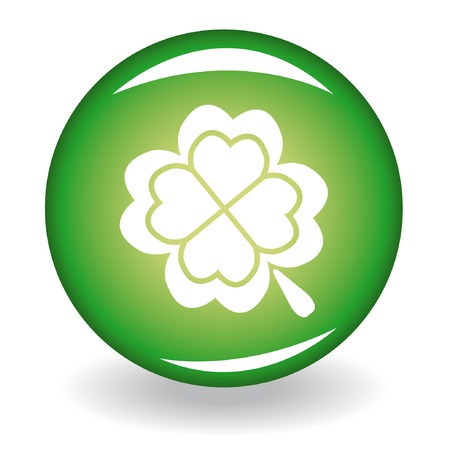 Glossy button with quatrefoil for st. Patrick's day Stock Vector - 4200604