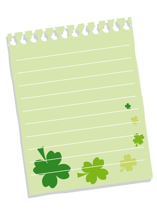 Sheet of paper with quatrefoils for St. Patrick's day. You can put in your text. Stock Vector - 4200619