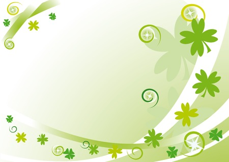 Green frame with quatrefoils, stars, circles and spirals for St. Patricks Day Vector