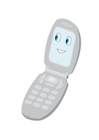 wap: Isolated mobile phone with smiling avatar Illustration