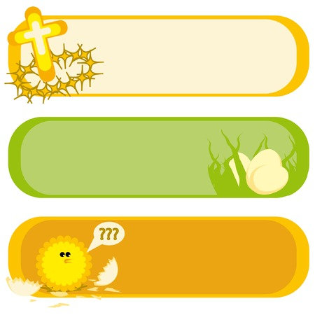 Three banners for Easter holiday. Vector illustration. Stock Vector - 4258746