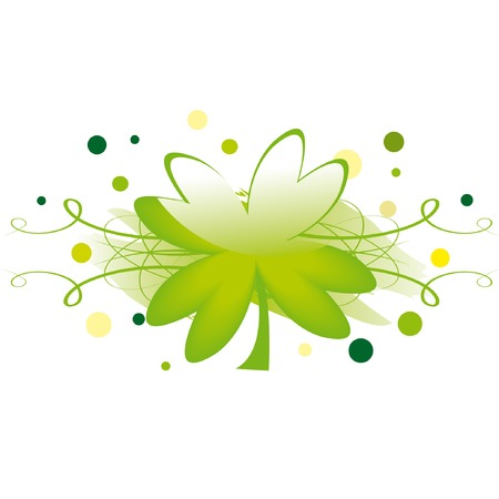 Grunge element with clover leaf for St. Patricks day Vector