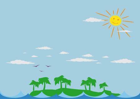 Summer landscape. Vector illustration. Vector