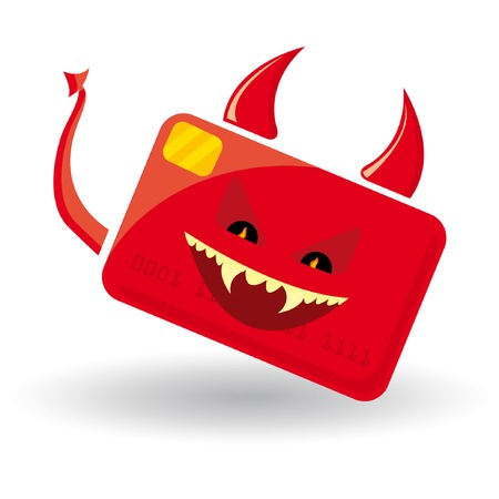 Credit card is evil Vector