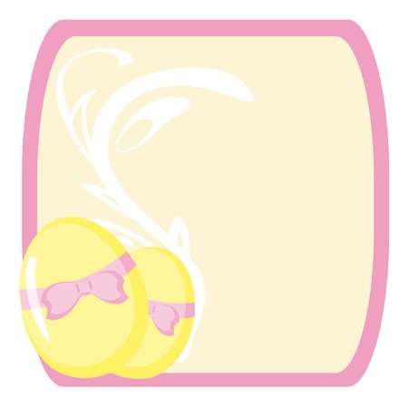 Frame with two eggs for Easter. Vector illustration. Vector
