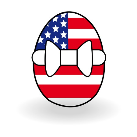 Abstract egg with USA flag for Easter day. Vector illustration. Stock Vector - 4634772