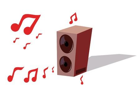 booster: illustration isol� au large de l'acoustique avec des notes de vol
