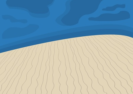 barren land: Abstract desert night landscape Illustration