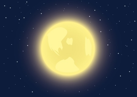 eventide: Background with full moon in the night sky