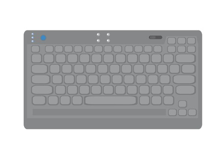 Isolated picture of compact keyboard. Stock Vector - 4888180