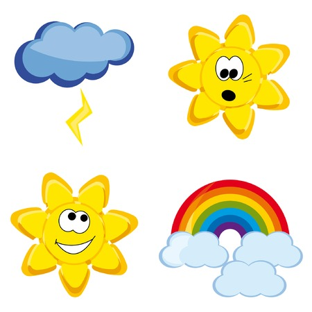 Fanny shiny weather icons Stock Vector - 4888176
