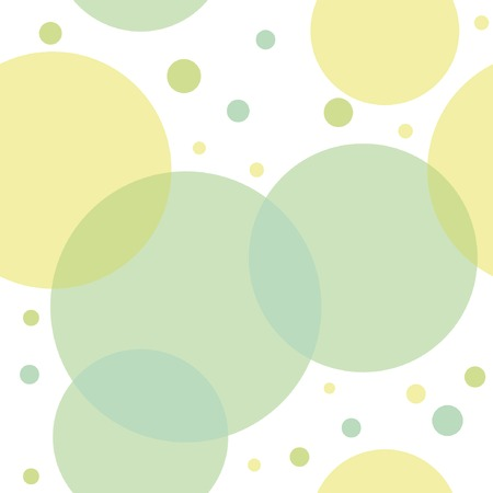 Abstract seamless pattern with green circles. Vector illustration. Vector