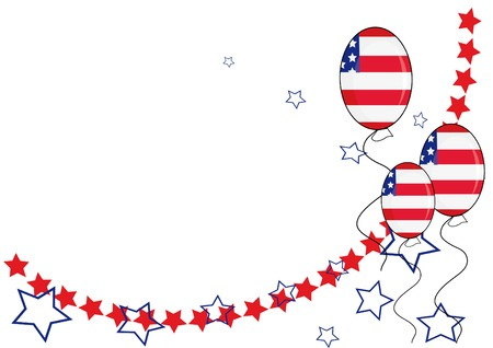 American patriotic background for Independence Day. Vector illustration. Vector