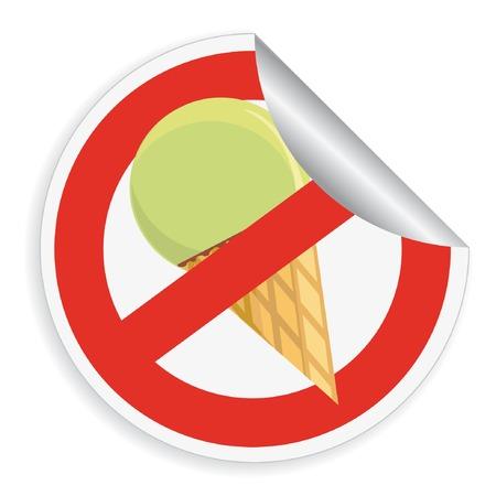 restrictive: Sticker restrictive sign  Illustration