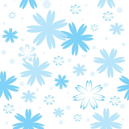 Seamless pattern with blue snowflakes. Vector illustration. Stock Vector - 5434060