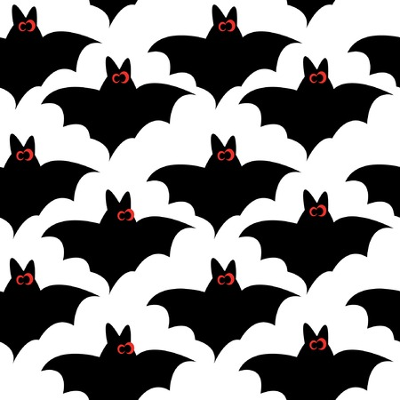 Seamless pattern with bats for halloween. Vector illustration. Vector