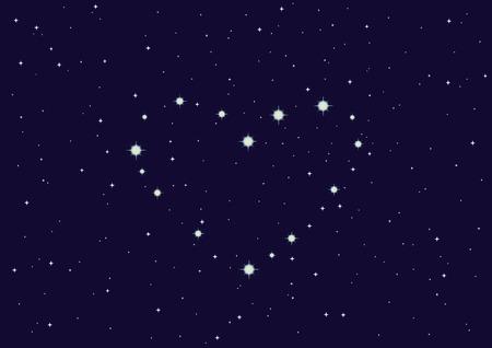 illustration of constellation Heart