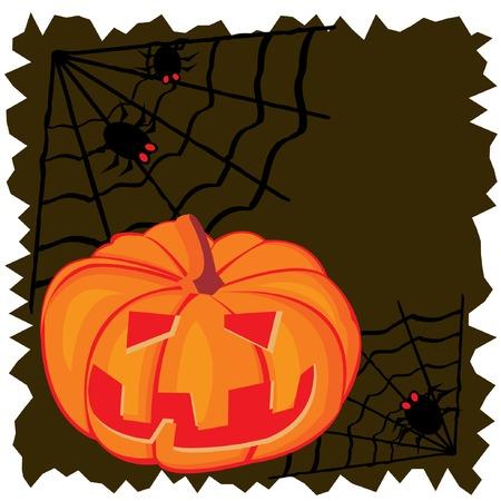 Abstract halloween background with pumpkin. Vector illustration. Stock Vector - 5605841