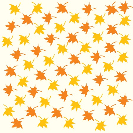 Vector background with color maple leaves. Stock Vector - 5605840