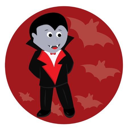 Cartoon cute little vampire. Vector illustration Stock Vector - 5708695