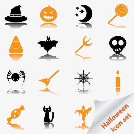 Halloween icon set. Vector illustration. Vector