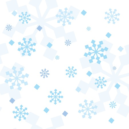 Seamless pattern with abstract snowflakes. Vector illustration. Stock Vector - 5909148