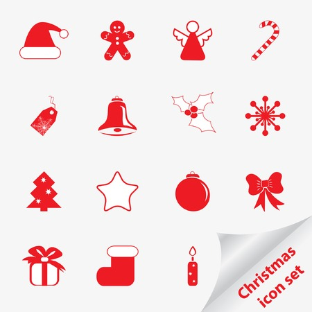 jackboot: Christmas icon set for your design. Vector illustration.