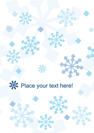 Winter background with snowflakes and space for your text. Vector illustration. Stock Vector - 6080669