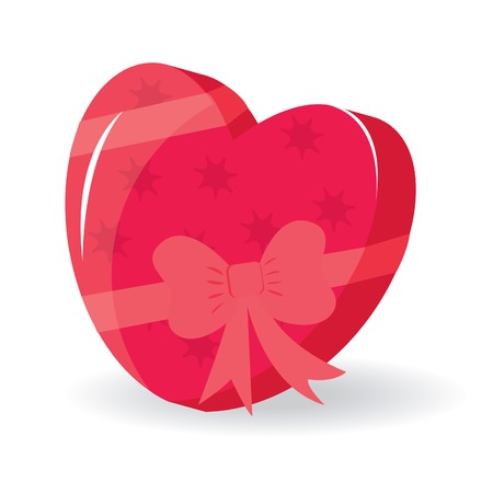 Heart-shaped box for your design. Vector illustration Stock Vector - 6300349