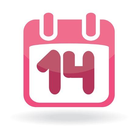 Valentine calendar icon. Vector illustration Stock Vector - 6392326