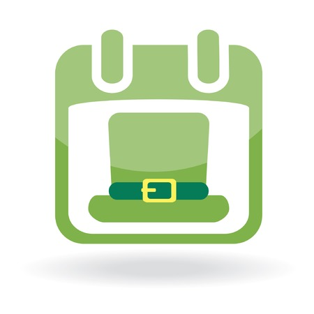 Calendar with irish hat. St. Patrick's day icon. Stock Vector - 6531806