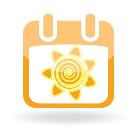 Easter icon - calendar with sun. Vector illustration Stock Vector - 6721239