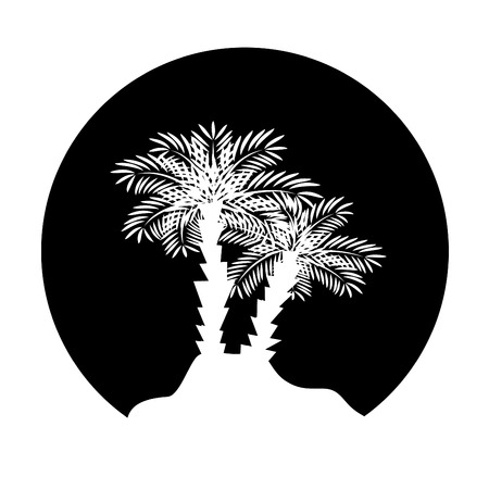 Palm tree.  Vector