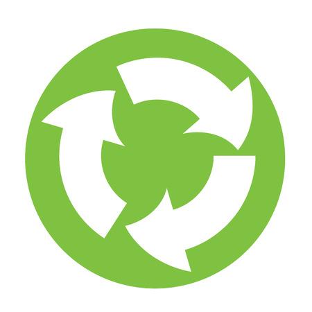 recycle reduce reuse: s�mbolo de la Papelera de reciclaje en c�rculo verde  Vectores